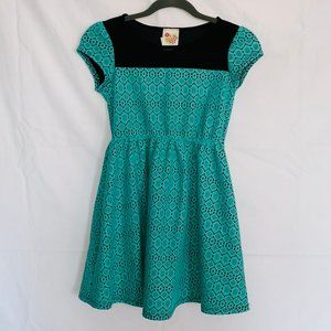 Kiddo by Katie dress with mesh blue